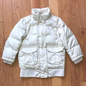Gap Kids Beige Puffer Winter Coat sz XS 4 - 5